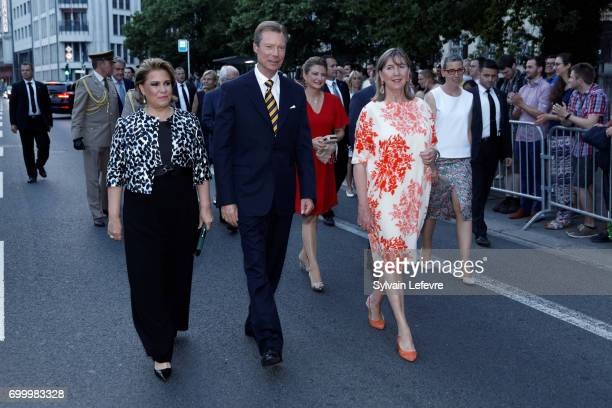 Grand Duchess Maria Teresa of Luxembourg Grand Duke Henri of Luxembourg and Princess Stéphanie of Luxembourg attend celebrations of National Day on...