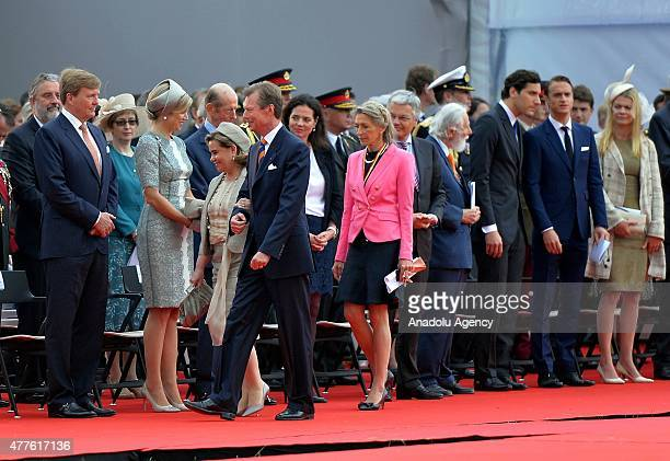 Grand Duchess Maria Teresa of Luxembourg Grand Duke Henri of Luxembourg attend the commemorations marking the 200th anniversary of The Battle of...