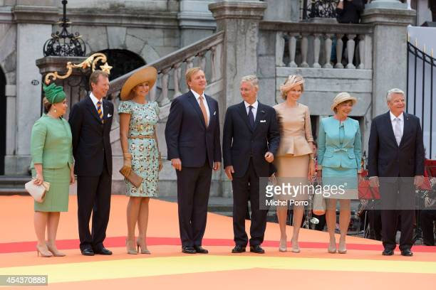 Grand Duchess Maria Teresa of Luxembourg Grand Duke Henri of Luxembourg Queen Maxima of The Netherlands King WillemAlexander of The Netherlands King...
