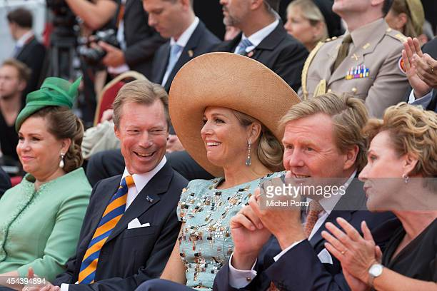 Grand Duchess Maria Teresa of Luxembourg Grand Duke Henri of Luxembourg Queen Maxima of The Netherlands King WillemAlexander of The Netherlands and...