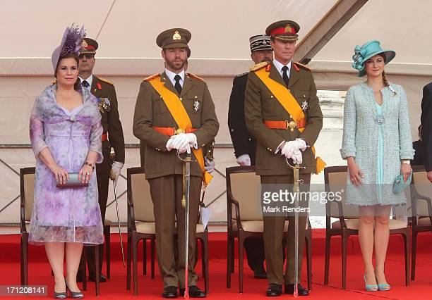Grand Duchess Maria Teresa of Luxembourg Prince Guillaume of Luxembourg Grand Duke Henri of Luxembourg and Princess Stephanie of Luxembourg celebrate...