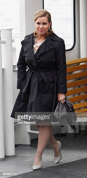 Grand Duchess Maria Teresa takes a tour through the old town in Stockholm on the first day of a three day state visit on April 15 2008 in Stockholm...