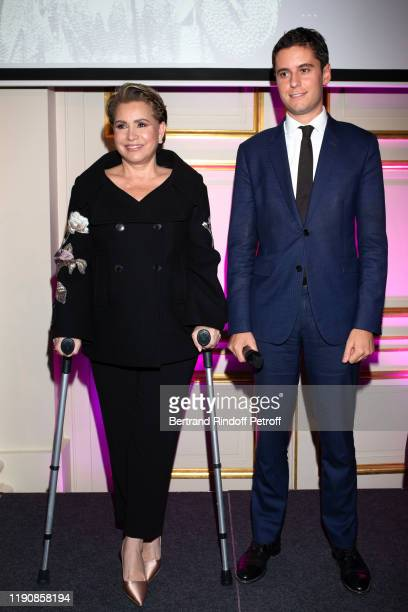 Grand Duchess Maria Theresa of Luxembourg and Secretary of State to the French Minister of National Education and Youth, Gabriel Attal attend the...