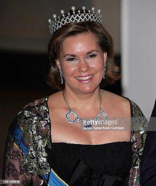 Grand Duchess MariaTheresa Of Luxembourg Attends King Carl Gustaf Of Sweden'S 60Th Birthday CelebrationsGala Dinner At The Royal Palace Stockholm