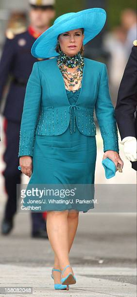 Grand Duchess Maria-Theresa Of Luxembourg Attends The Wedding Of Crown Prince Felipe Of Spain & Letizia Ortiz Rocasolano In Madrid. .