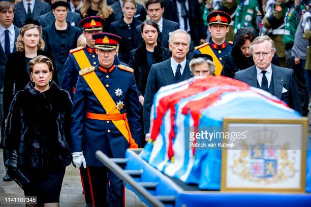 Grand Duchess of Maria Teresa of Luxembourg Grand Duke Henri of Luxembourg Arch Duchess Marie Astrid of Austria and Prince Jean of Luxembourg attend...