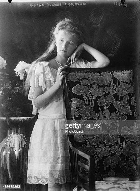 Grand Duchess Olga Nikolaevna was the eldest child of Tsar Nikolas and Tsarina Alexandra of Russia mid to late 1900s