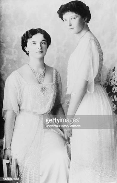 Grand Duchess Olga Nikolaevna with her sister Grand Duchess Tatiana Nikolaevna children of Nicholas the II of Russia and his wife Alexandra
