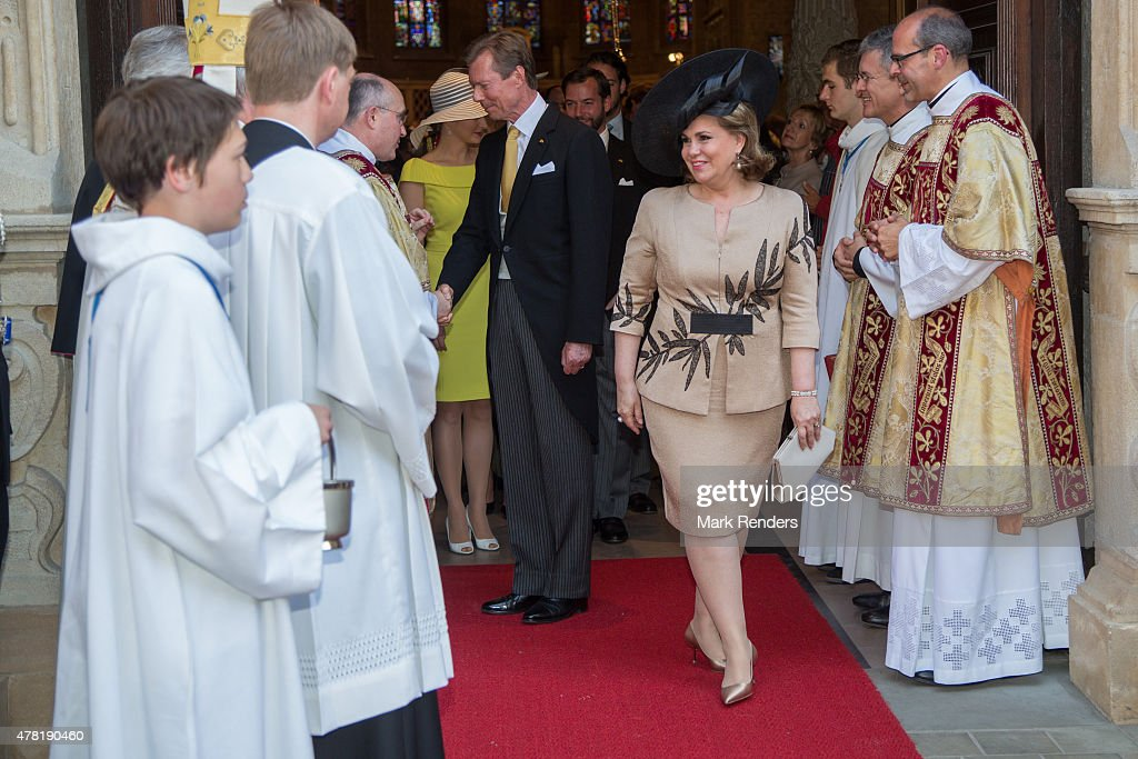 Grand Duchesse Maria Teresa and Grand Duke Henri of Luxembourg assist National Day on June 23, 2015 in Luxembourg, Luxembourg.