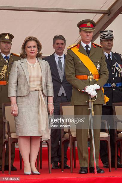 Grand Duchesse Maria Teresa and Grand Duke Henri of Luxembourg on June 23 2015 in Luxembourg Luxembourg