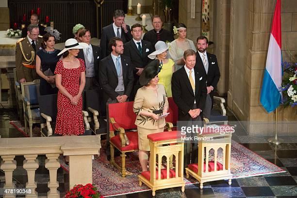 Grand Duchesse Maria Teresa, Grand Duke Henri, Princess Claire, Prince Felix, Princess Stephanie, Prince Guillome, Princess Terry, Prince Felix,...