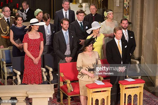 Grand Duchesse Maria Teresa Grand Duke Henri Princess Claire Prince Felix Princess Stephanie Prince Guillome Princess Terry Prince Felix Prince...