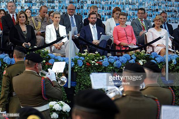 Grand Duchesse Maria Teresa guest Prince Guillaume and Princess Stephanie of Luxembourg celebrate National Day on June 21 2016 in Luxembourg...
