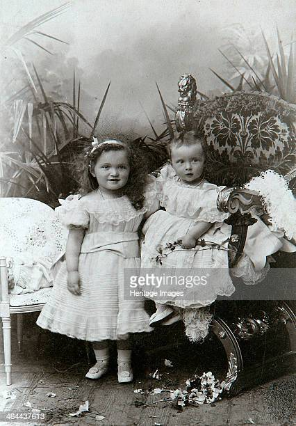 Grand Duchesses Olga Nikolaevna and Tatiana Nikolaievna of Russia The two eldest daughters of Tsar Nicholas II Found in the collection of the State...