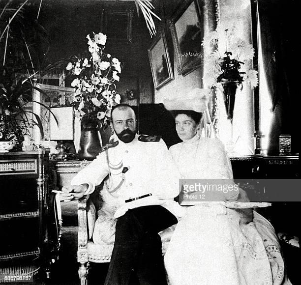 Grand Duke Alexander Mikhailovich and Grand Duchess Xenia Alexandrovna Married at Peterhof in 1894