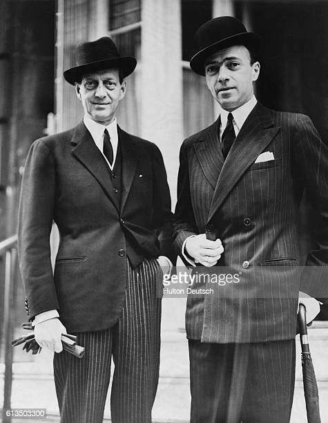 Grand Duke Dimitri of Russia and his cousin Prince Dimitri out for a stroll in London 1939