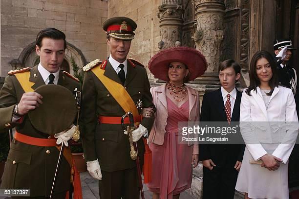 Grand Duke Guillaume, Grand Duke Henri, the Duke of Luxembourg, Grand Duchess Maria Teresa, the Duchess of Luxembourg, Prince Sebastien and Princess...