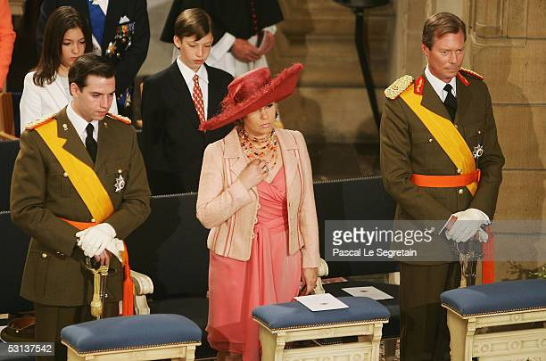 Grand Duke Guillaume of Luxembourg, Grand Duchess Maria Teresa, the Duchess of Luxembourg, Grand Duke Henri, the Duke of Luxembourg, Princess...