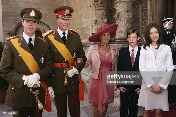 Grand Duke Guillaume of Luxembourg, Grand Duke Henri, the Duke of Luxembourg, Grand Duchess Maria Teresa, the Duchess of Luxembourg, Prince Sebastien...