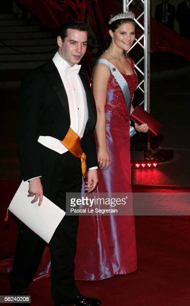 Grand Duke Guillaume of Luxemburg and Princess Victoria of Sweden leave the Opera Garnier Gala Night as part of Monaco's National Day celebrations...