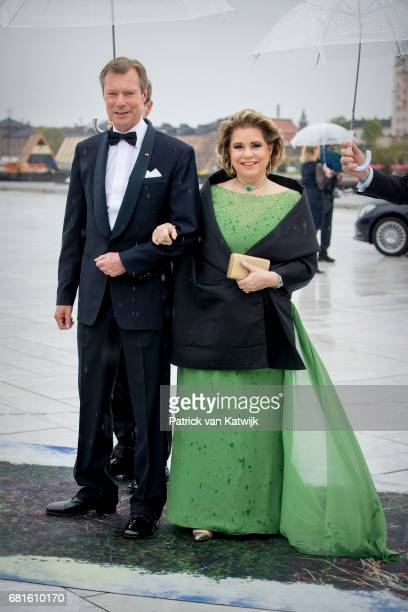 Grand Duke Henri and Grand Duchess Maria Teresa of Luxembourg arrive at the Opera House on the ocassion of the celebration of King Harald and Queen...