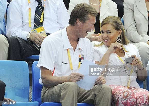 Grand Duke Henri and Grand Duchess Maria Teresa of Luxembourg in Beijing China on August 11th 2008
