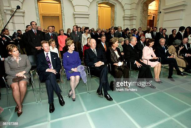 Grand Duke Henri and Grand Duchess Maria theresa King Harald and Queen Sonya from Norway Queen Paola and King Albert King Carl Gustav and queen...