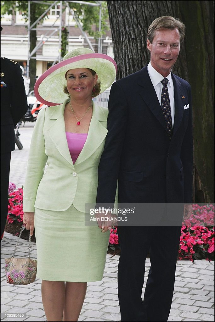 Royal Christening of Catharina Amalia Of Netherlands, daughter of Prince Willem Alexander and Princess Maxima in La Haye, Netherlands on June 12, 2004. : News Photo