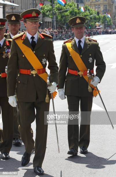 Grand Duke Henri and Prince Guillaume from Luxembourg assist the military Parade on National Day on June 23 2009 in Luxembourg Luxembourg