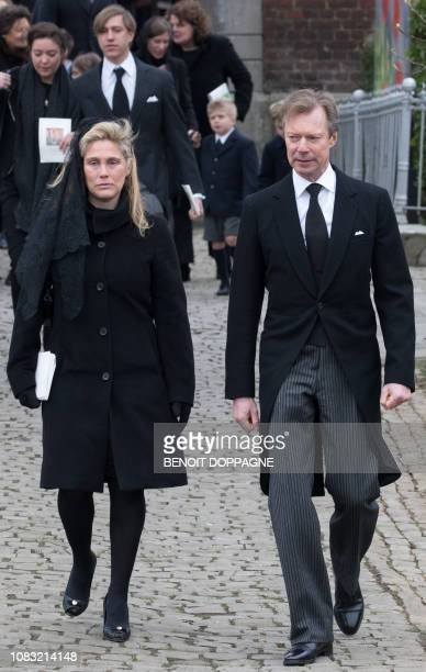 Grand Duke Henri and Prince Louis of Luxembourg pictured after the funeral service for Count Philippe de Lannoy at FrasnesLezAnvaing Wednesday 16...