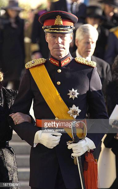 Grand Duke Henri Attends The Funeral Of Grand Duchess JosephineCharlotte Of Luxembourg At The Cathedral NotreDame Du Luxembourg