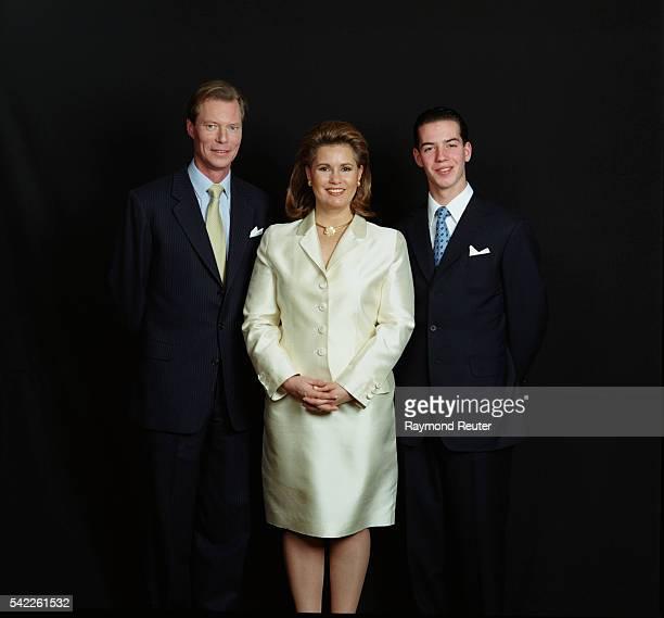 Grand Duke Henri Grand Duchess Maria Teresa and their son Guillaume