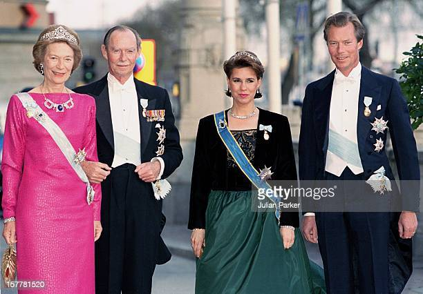 Grand Duke Henri Grand Duchess Maria Theresa Grand Duke Jean Grand Duchess Josephine Charlotte Of Luxembourg Attend A Performance Of The Dramatic...
