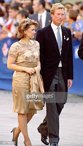 Grand Duke Henri Grand Duchess Maria Theresa Of Luxembourg Attend The Wedding Of Infanta Cristina Of Spain And Inaki Urdangarin At Barcelona Cathedral