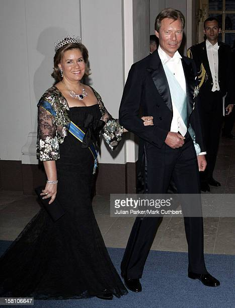 Grand Duke Henri & Grand Duchess Maria-Theresa Of Luxembourg Attend King Carl Gustaf Of Sweden'S 60Th Birthday Celebrations.Gala Dinner At The Royal...