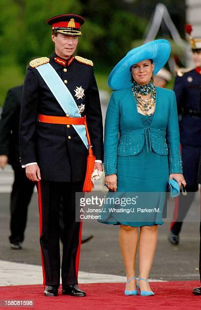 Grand Duke Henri Grand Duchess MariaTheresa Of Luxembourg Attend The Wedding Of Crown Prince Felipe Of Spain Letizia Ortiz Rocasolano In Madrid