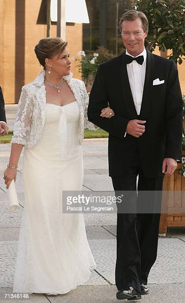 Grand Duke Henri of Luxembourg and Duchess Maria Teresa arrives at the Grand Theater to attend a special performance on June 30 2006 in Luxembourg as...
