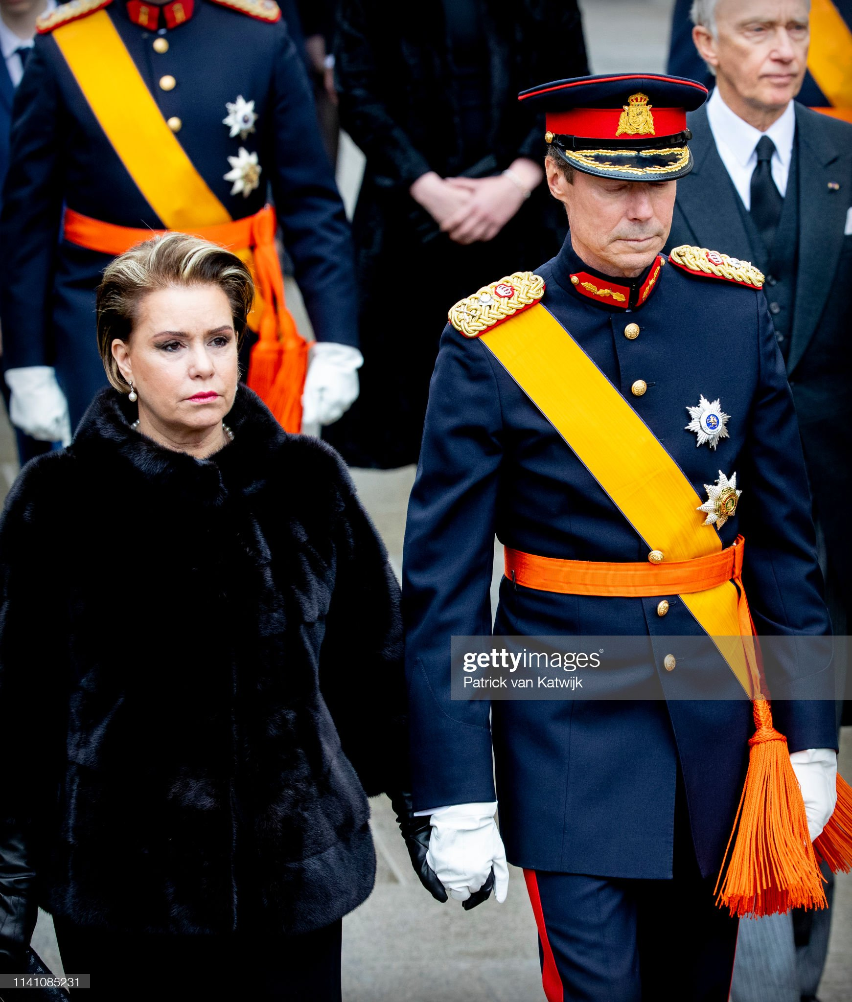 Похороны Великого Герцога Жана https://media.gettyimages.com/photos/grand-duke-henri-of-luxembourg-and-grand-duchess-maria-teresa-of-picture-id1141085231?s=2048x2048