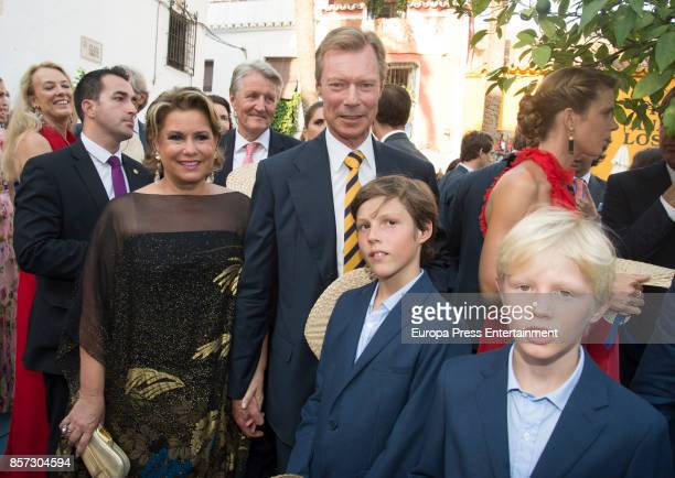 Grand Duke Henri of Luxembourg and Grand Duchess Maria Teresa of Luxembourg from The Grand Ducal Family of Luxembourg and their grandsons Gabriel of...