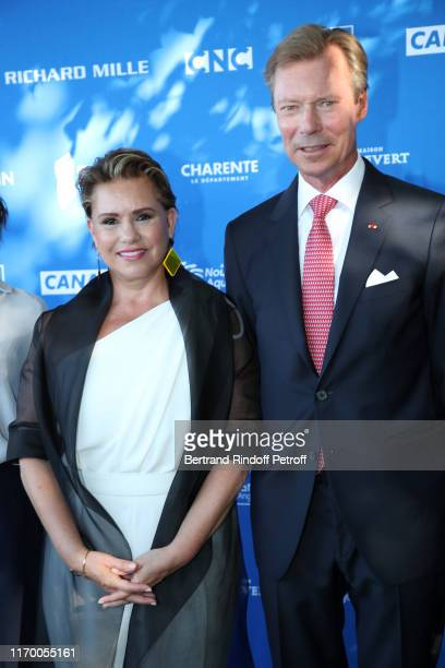 Grand Duke Henri of Luxembourg and Grand Duchess Maria Theresa of Luxembourg attend the 12th Angouleme FrenchSpeaking Film Festival Day Five on...