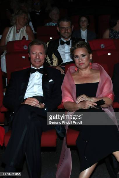 Grand Duke Henri of Luxembourg and Grand Duchess Maria Theresa of Luxembourg attend the Closing Ceremony of the 12th Angouleme French-Speaking Film...