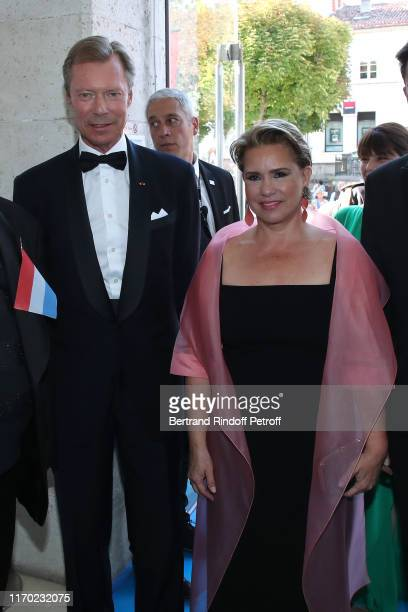 Grand Duke Henri of Luxembourg and Grand Duchess Maria Theresa of Luxembourg attend the Closing Ceremony of the 12th Angouleme FrenchSpeaking Film...
