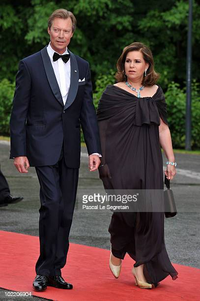 Grand Duke Henri of Luxembourg and Maria Teresa Duchess of Luxembourg attend the Government PreWedding Dinner for Crown Princess Victoria of Sweden...