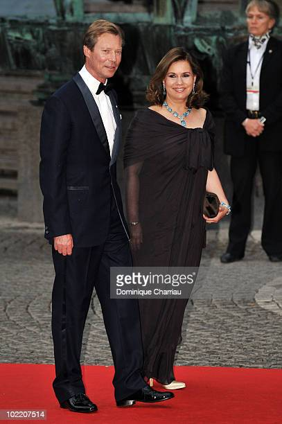 Grand Duke Henri of Luxembourg and Maria Teresa Duchess of Luxembourg attend the Government Gala Performance for the Wedding of Crown Princess...