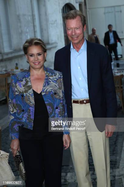 Grand Duke Henri of Luxembourg and the Grand Duchess Maria Theresa of Luxembourg attend the 12th Angouleme FrenchSpeaking Film Festival Day Four on...