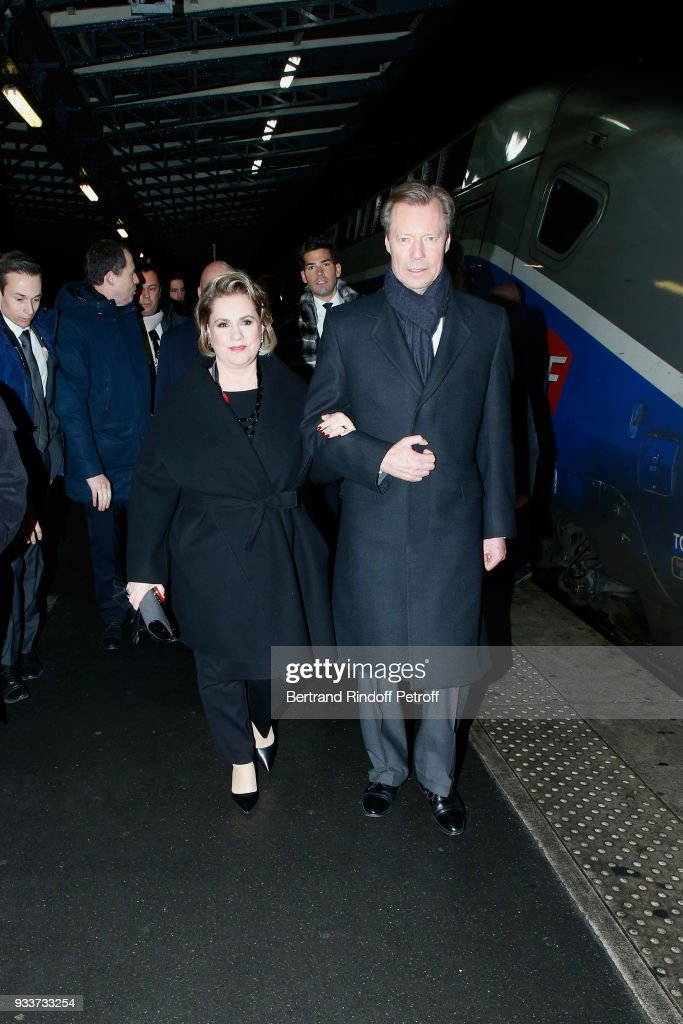 Official Visit OF Grand-Duc Henri Of Luxembourg and Grande-Duchesse Maria Teresa Of Luxembourg : Day One : News Photo