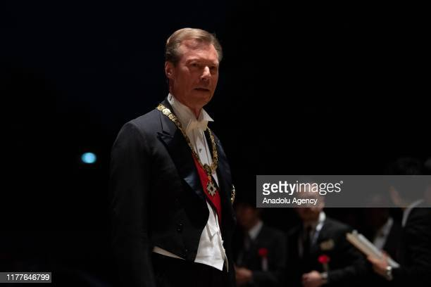 Grand Duke Henri of Luxembourg arrives at the Imperial Palace for the Court Banquets after the Ceremony of the Enthronement of Emperor Naruhito in...