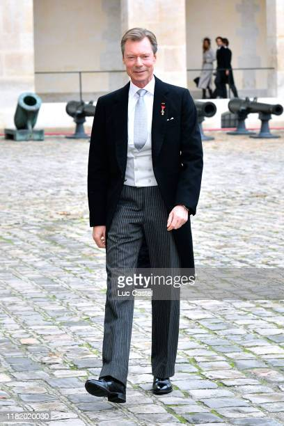 Grand Duke Henri of Luxembourg attends the Wedding of Prince JeanChristophe Napoleon and Olympia Von ArcoZinneberg at Les Invalides on October 19...