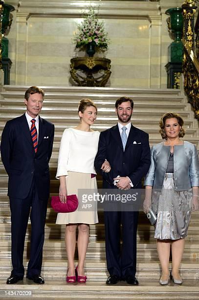 Grand Duke Henri of Luxembourg, Belgian Countess Stephanie de Lannoy, Prince Guillaume, hereditary Grand-Duke of Luxembourg and Grand Duchess Maria...