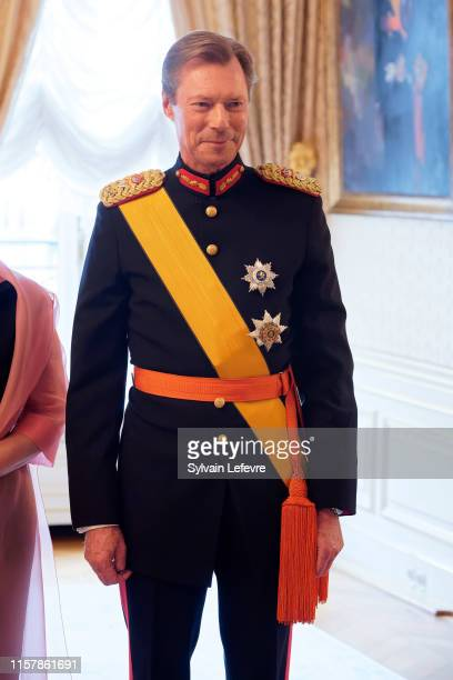 Grand Duke Henri of Luxembourg during the reception at the Grand Ducal Palace on the National Day on June 23, 2019 in Luxembourg, Luxembourg.